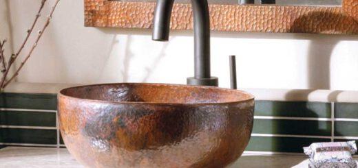 umywalka wykonana z miedzi